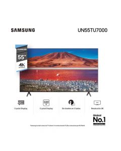 "Smart TV Samsung 55"" UHD 4K UN55TU7000"